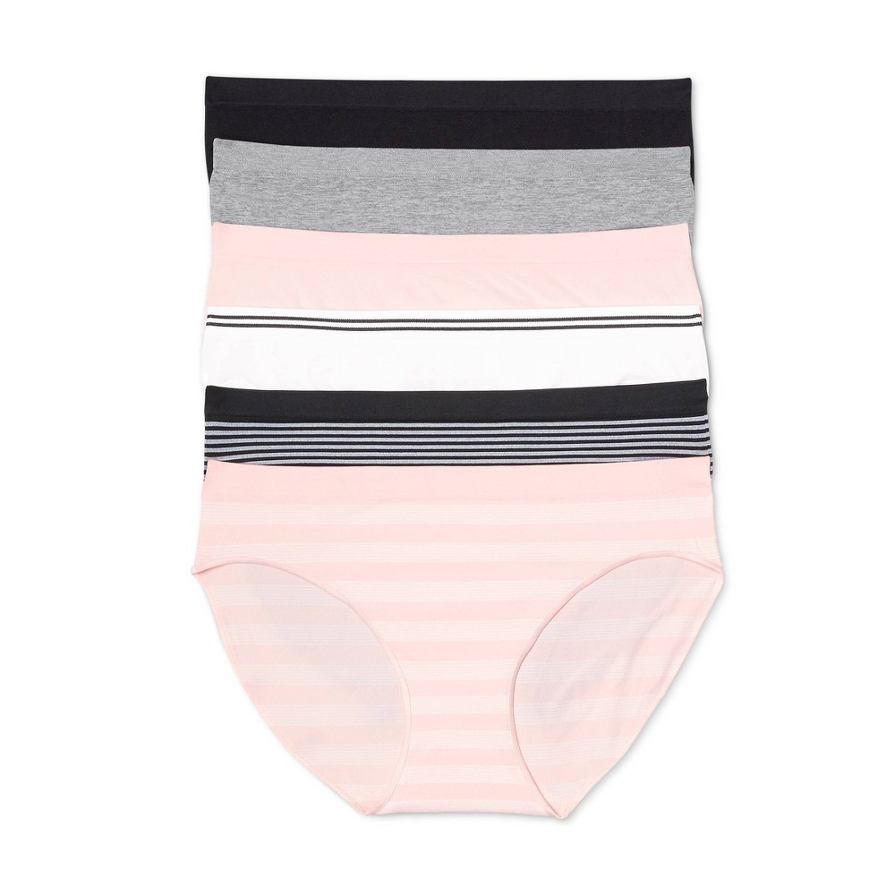 Women 39 S Seamless Bikini Underwear 6pk Auden 8482 Assorted S