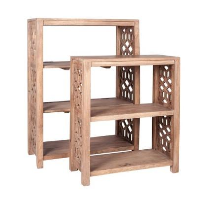 "40"" 2pc Serena Standard Bookshelf Set Sand - East at Main"