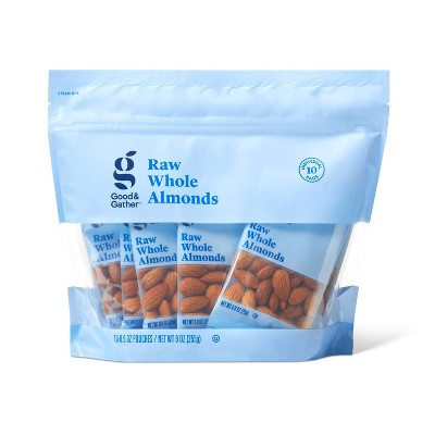 Unsalted Raw Whole Almonds - 9oz/10ct - Good & Gather™