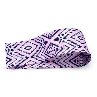 Ivory Ella Head Wrap - Pink/Blue Diamond Mosaic