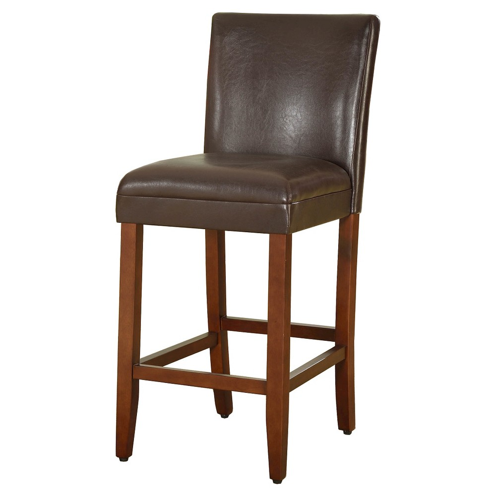 29 Faux Leather Bar Stool Brown - HomePop was $124.99 now $93.74 (25.0% off)