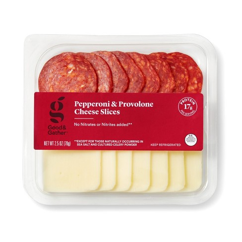 Pepperoni and Provolone Cheese Slices - 2.5oz - Good & Gather™ - image 1 of 1