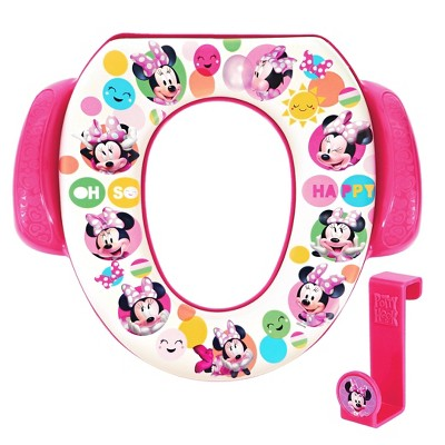 "Disney Minnie Mouse ""Oh So Happy"" Soft Potty Seat with Potty Hook"