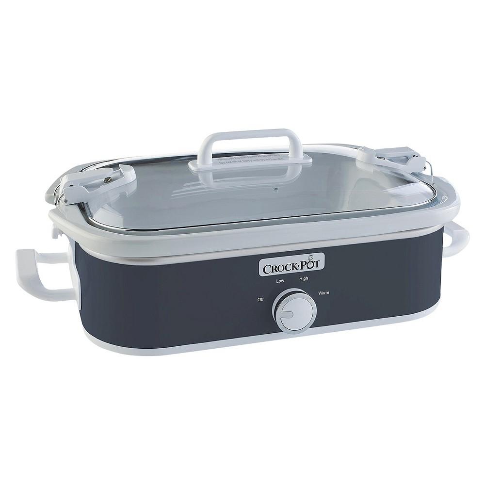 Image of Crock-Pot 3.5 Qt. Casserole Crock Slow Cooker - Gray SCCPCCM650-CH