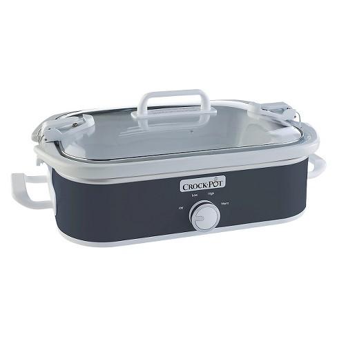 Crock-Pot 3.5 Qt. Casserole Crock Slow Cooker - Gray SCCPCCM650-CH - image 1 of 4