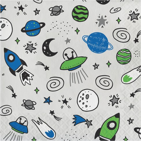 20ct Space Lunch Napkin - Spritz™ - image 1 of 1