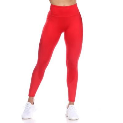 High-Waist Mesh Fitness Leggings - White Mark