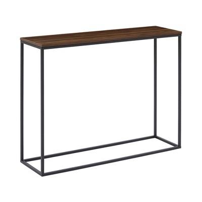 """42"""" Open Box Entry Table Dark Walnut/Black - Saracina Home"""