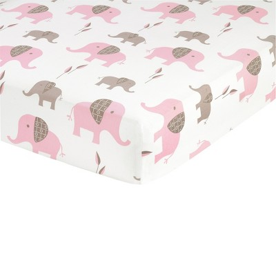 Sweet Jojo Designs Elephant Fitted Crib Sheet - Print