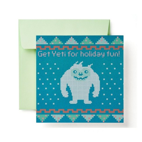 """Get Yeti For Holiday Fun"" Cross Stitch Card - image 1 of 6"