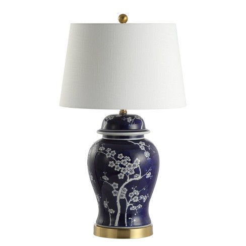 """29.5"""" Gracie Ginger Jar Ceramic/Metal LED Table Lamp White (Includes Energy Efficient Light Bulb) - JONATHAN Y - image 1 of 4"""