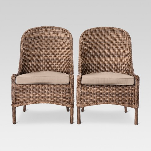 Mayhew 2pk All Weather Wicker Patio Dining Chair Threshold