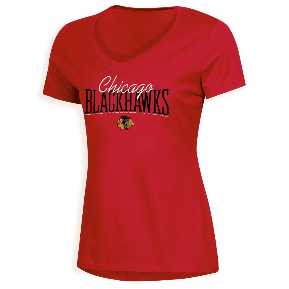 Chicago Blackhawks Women's Overtime V-Neck T-Shirt - XL, Multicolored
