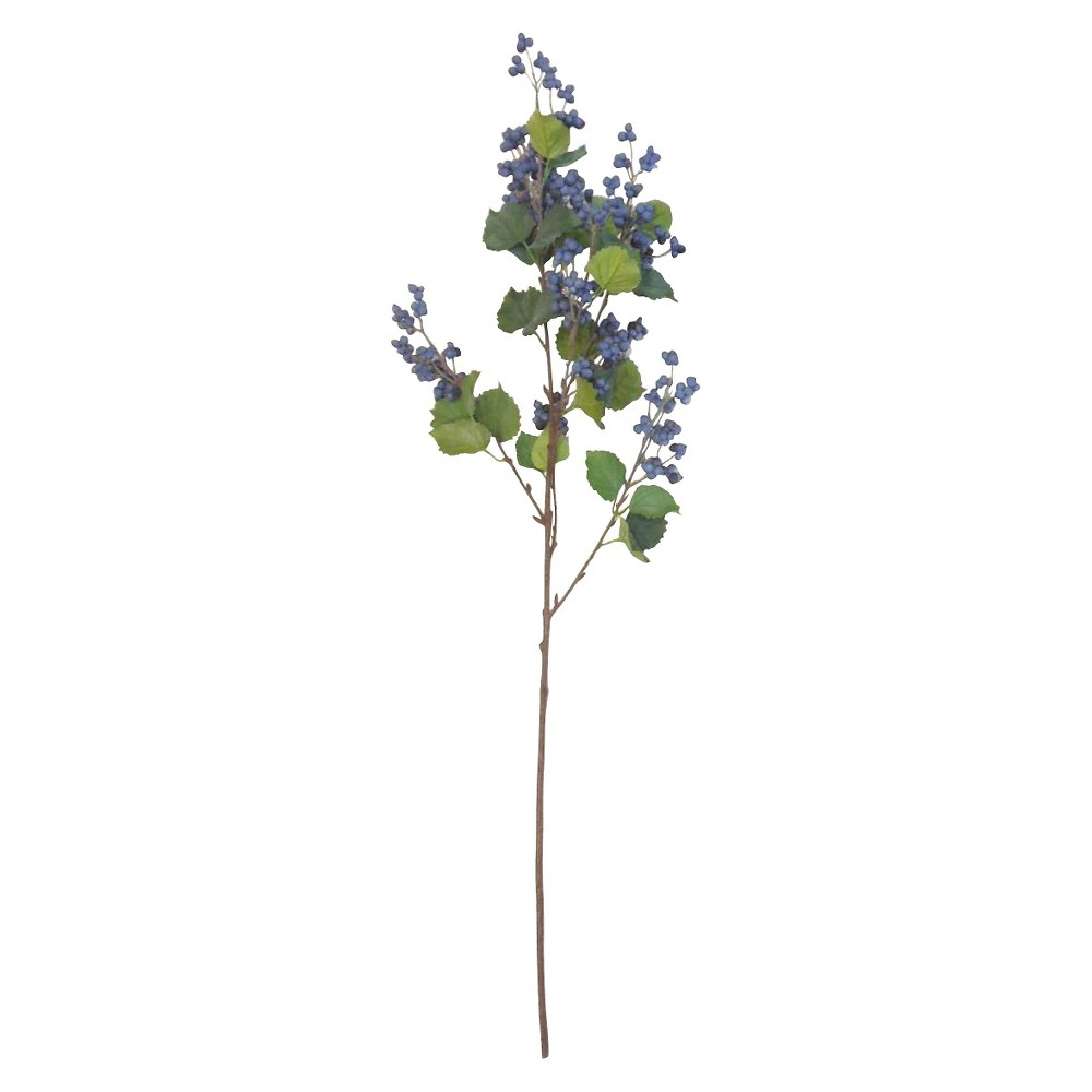 Purple Berries Artificial Stem - Threshold, Clear