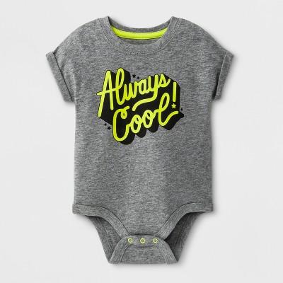 Baby Boys' Short Sleeve Bodysuit - Cat & Jack™ White 0-3M