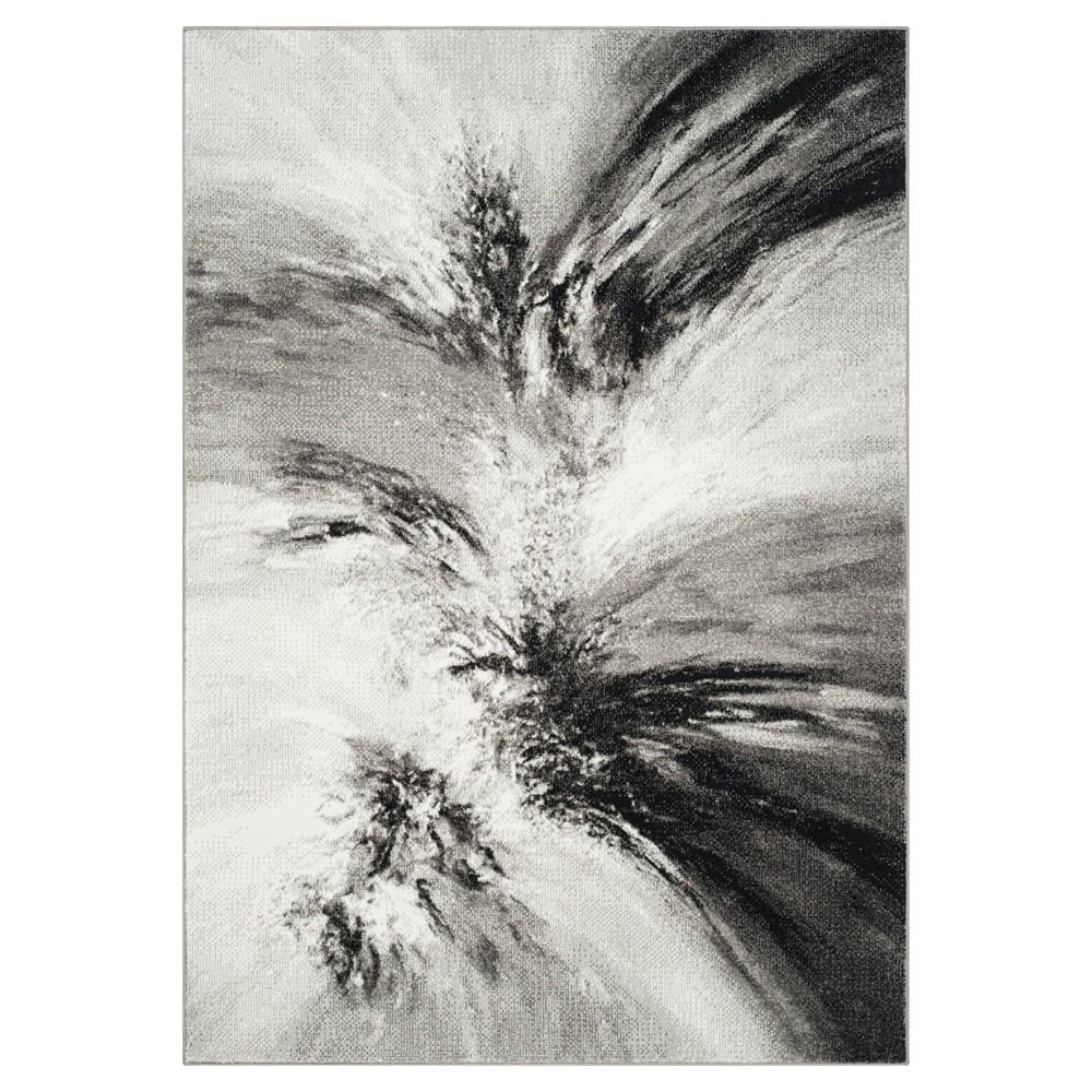Gray/Multi Abstract Tufted Area Rug - (8'X10') - Safavieh, Multicolored Gray