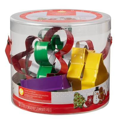 Wilton 12pc Holiday Metal Cookie Cutter Set