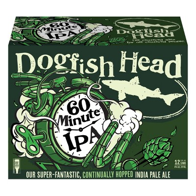 Dogfish Head 60 Minute IPA Beer - 12pk/12 fl oz Cans
