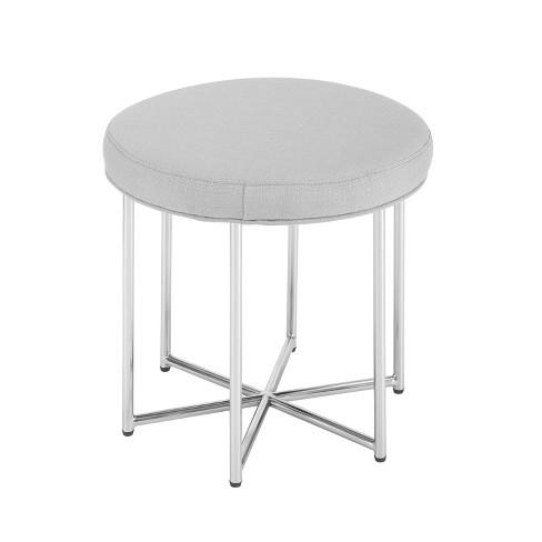 Elston Small E Side Table Stool Gray Aiden Lane