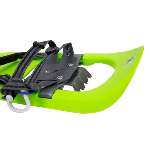Yukon Charlie's Junior Scout 7 X 16 Durable Youth Hiking Molded Snowshoes,  Green