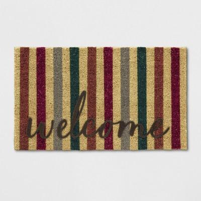 18 X30  Stripe Tufted Doormats Brown - Threshold™