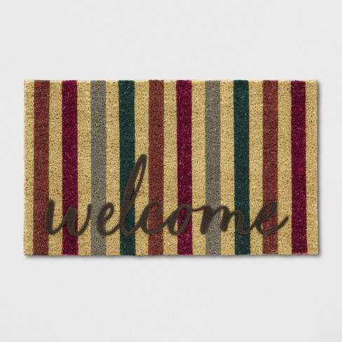 "18""X30"" Stripe Tufted Doormats Brown - Threshold™ - image 1 of 3"