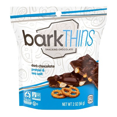 barkThins Dark Chocolate Pretzel With Sea Salt Snacking Chocolate - 2oz