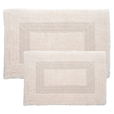 Solid Bath Mat 2pc Ivory - Yorkshire Home