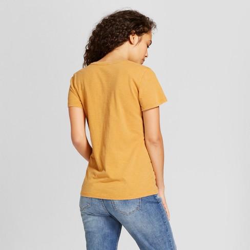 fd465c0b0cde1 Women's Monterey Pocket V-Neck Relaxed Fit Short Sleeve T-Shirt - Universal  Thread™ Gold XL
