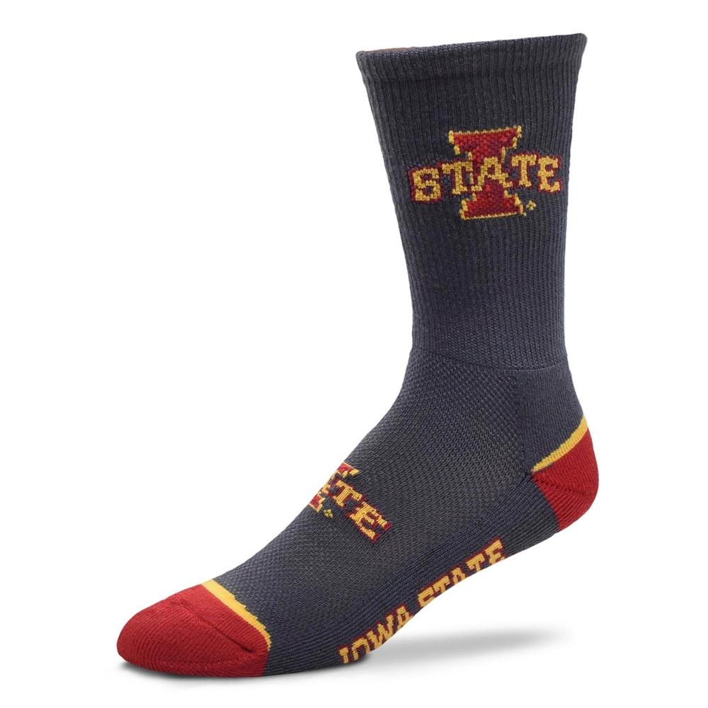 NCAA Iowa State Cyclones Mesh Charcoal Crew Sock L, Men's