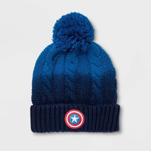 Kids' Marvel Beanie - Blue One Size - image 1 of 1