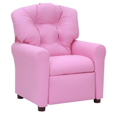 Kids Traditional Recliner Chair Pink - The Crew Furniture