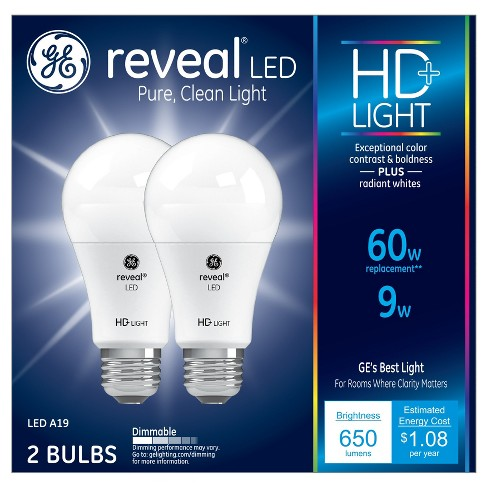 2pk 60w A19 Led Light Bulb White