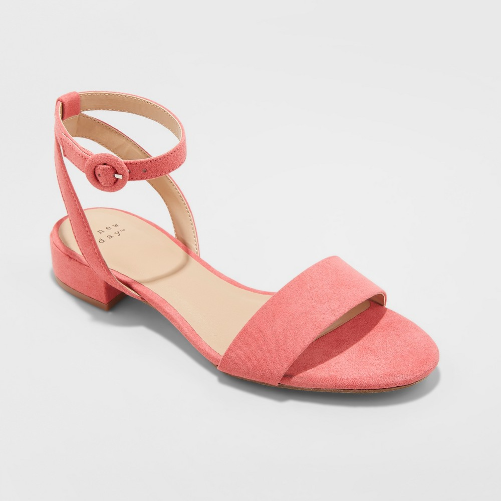 Women's Winona Wide Width Ankle Strap Sandals - A New Day Pink 5.5, Size: 5.5 Wide