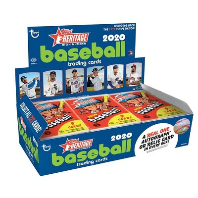 Topps MLB Heritage High Baseball Trading Card Hobby Box