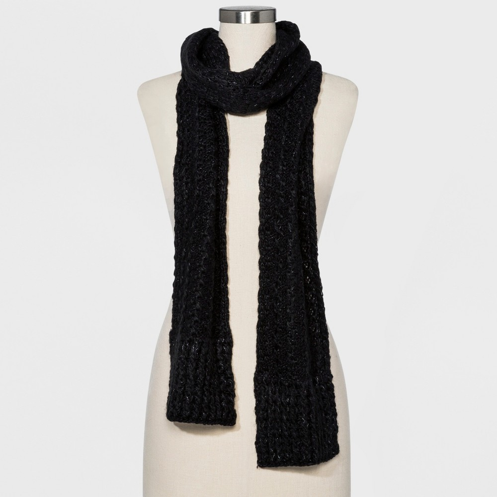 Women's Striped Oblong Scarf - Universal Thread Navy, Black