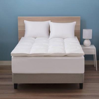 Deluxe Down Alternative Fiber Bed Mattress Topper