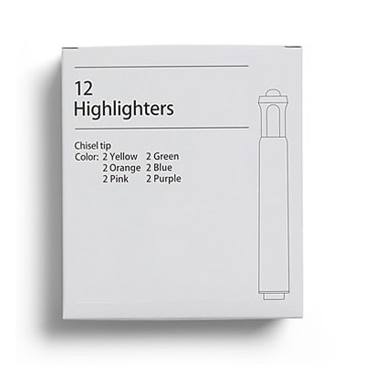 MyOfficeInnovations Highlighters, Chisel Tip, Assorted, 12/PK 24416460