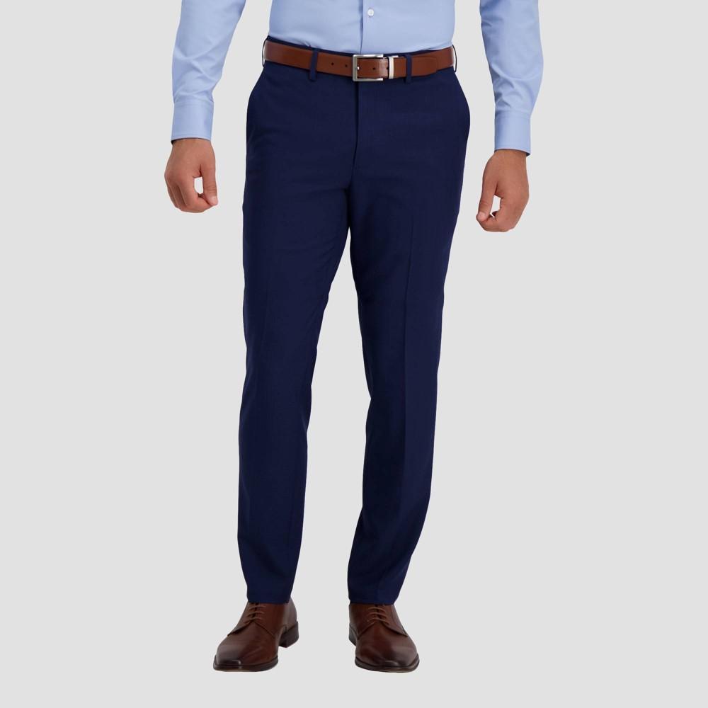 Haggar H26 Men 39 S Premium Stretch Slim Fit Dress Pants Midnight Blue 32x32