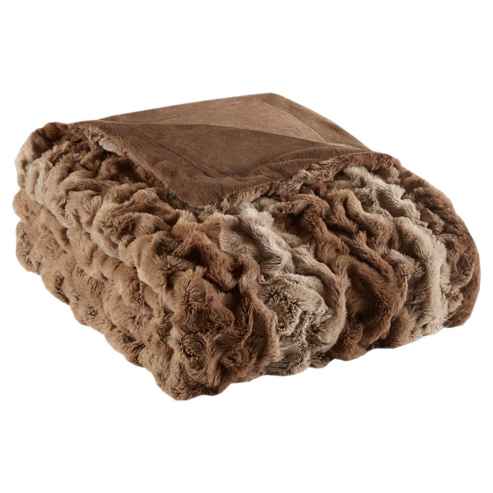 Tan Stripe Throw Blankets (