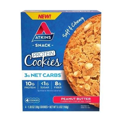 Atkins Cookie - Peanut Butter - 4pk
