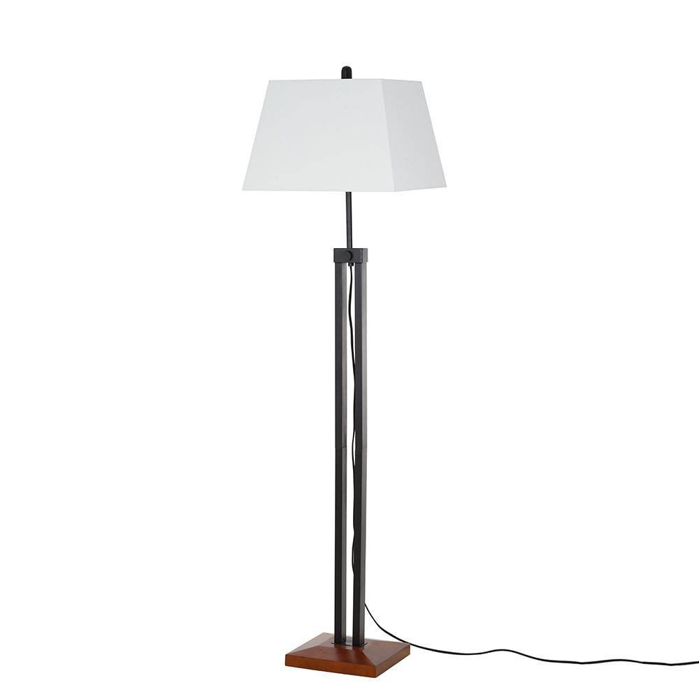 Image of Adjustable Wood Floor Lamp Matte Black (Includes Energy Efficient Light Bulb) - Cresswell Lighting
