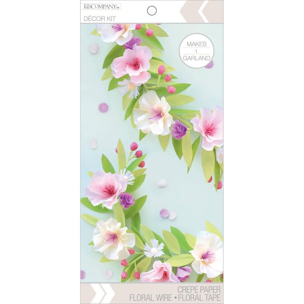 Image of K&Company Flower Garland Decor Paper Kit