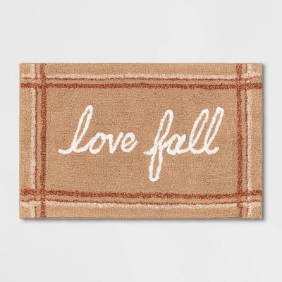 "19""x28"" Love Fall Bath Rug Yellow - Threshold™"