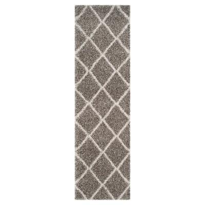 Hudson Shag Rug - Gray/Ivory - (2'3 X12')- Safavieh®