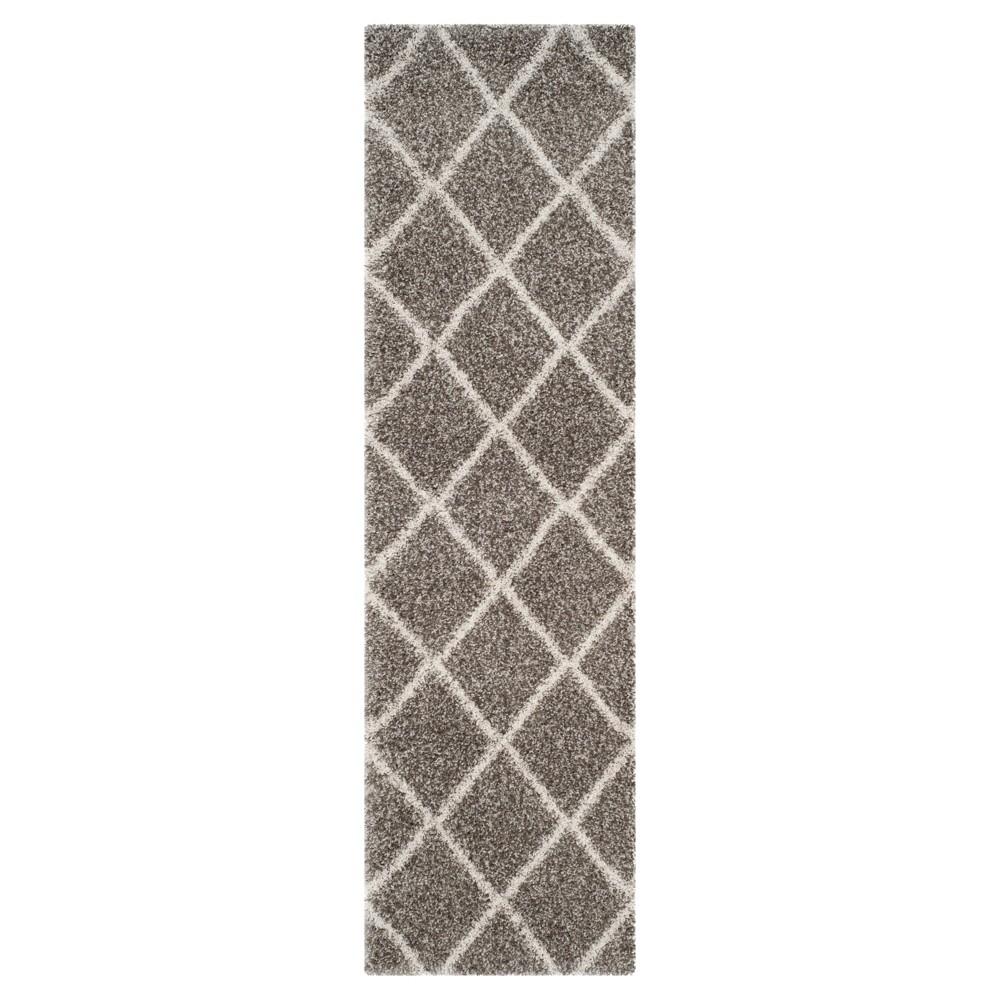 Hudson Shag Rug Gray Ivory 2 39 3 34 X6 39 Safavieh