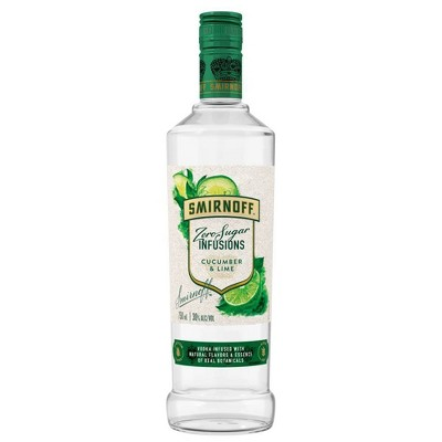 Smirnoff Zero Sugar Infusions Cucumber & Lime Vodka - 750ml Bottle