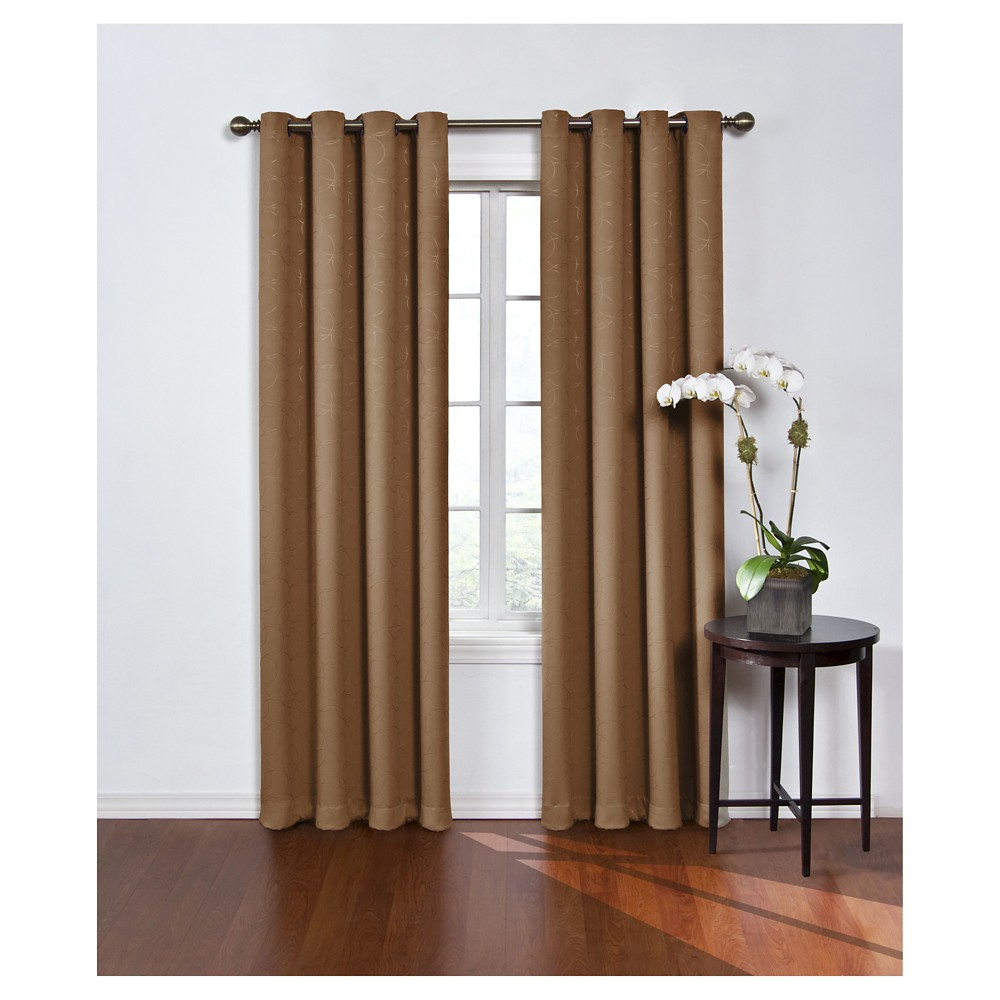 Round & Round Thermawave Blackout Curtain Latte (52