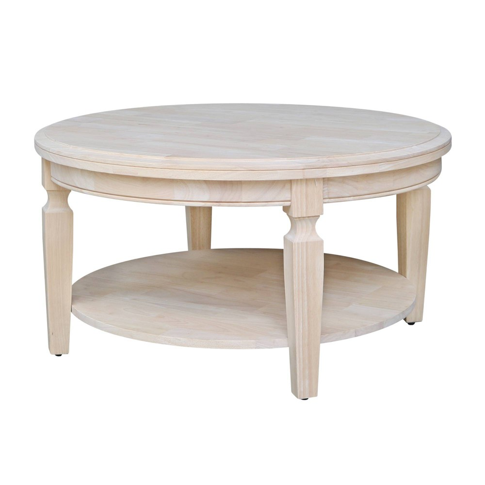 Vista Round Coffee Table Natural International Concepts