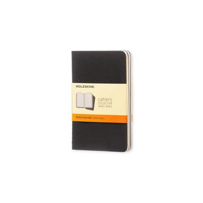 """Moleskine 3pk College Ruled Solid Composition Notebooks 5.5""""x 3.75"""" Black"""
